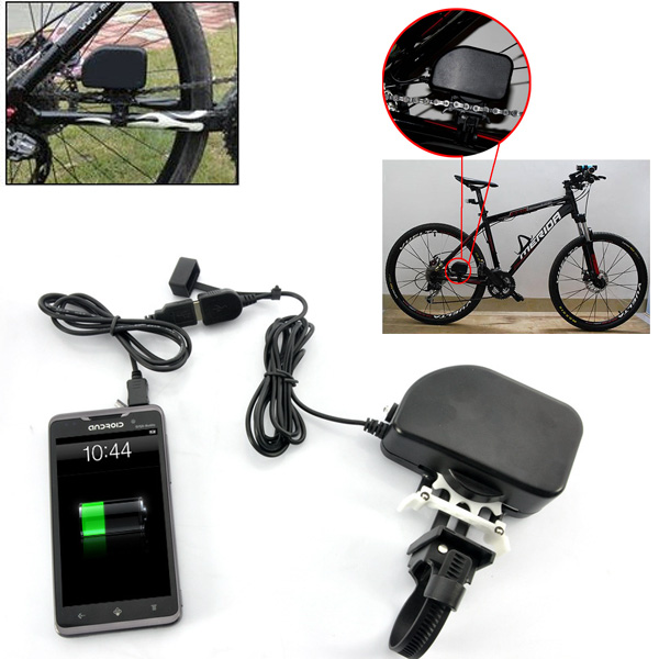 DIY Portable USB Bicycle Chain Dynamo Universal Power Bank Charger