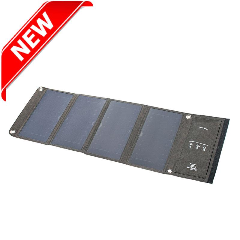 28watt portable foldable sunpower solar charger bag with dual USB output EM-028S