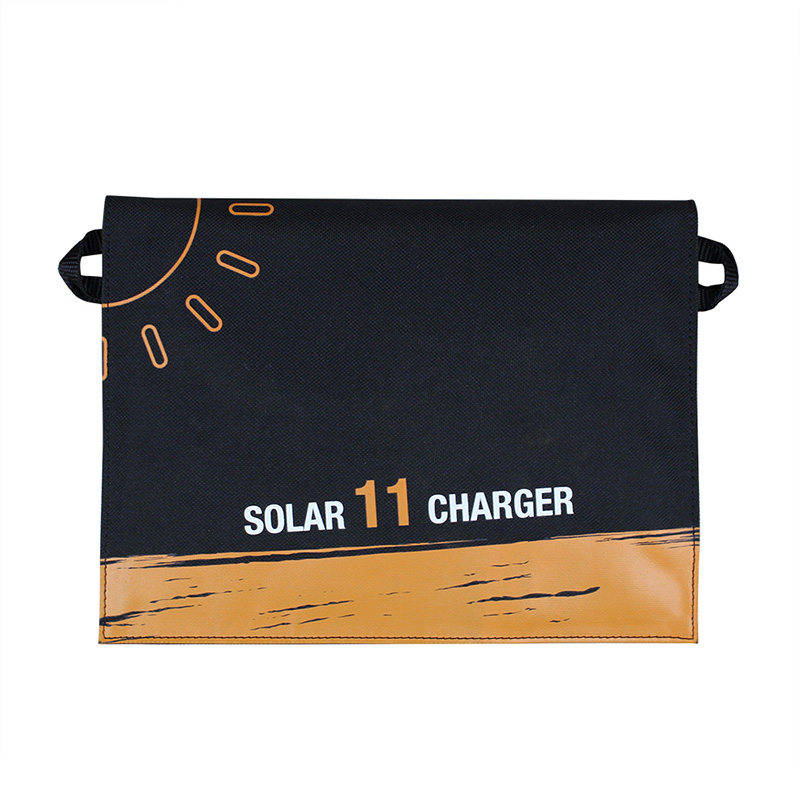 11watt solar mobile phone charger with dual USB can charge 2pcs phone at the same time EM-011