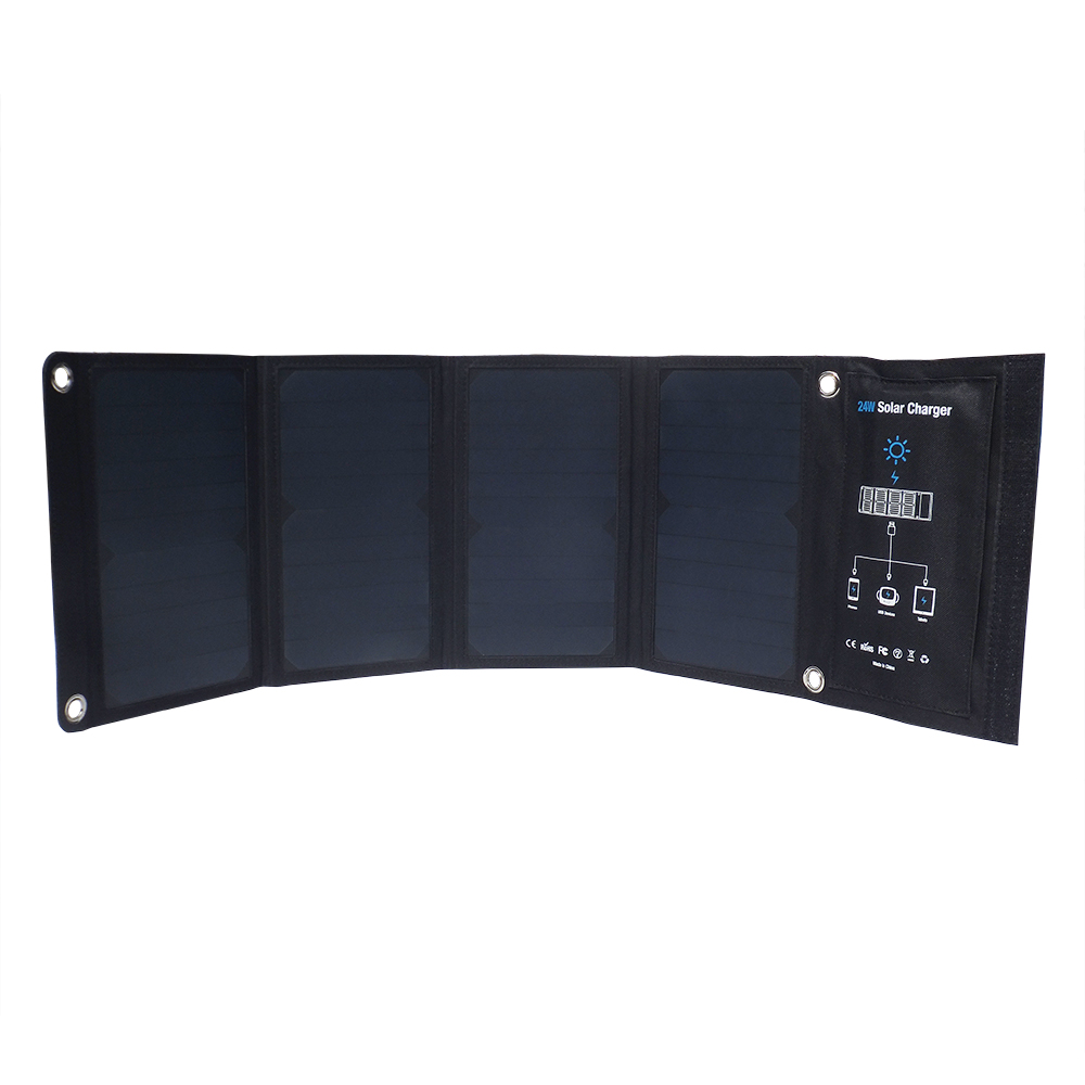 3 USB output 24watt sunpower solar charger EM-024D