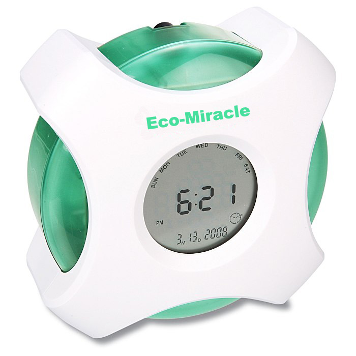 Multi-function water powered clock