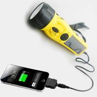 Multifunction solar hand crank flashlight with With FM radio/SOS/compass etc function