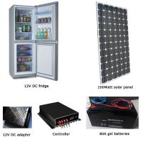 EM-BCD250 250L fridge/freezer + 100W solar panel + 80AH battery set