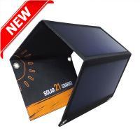 Sunpower® 21watt portbale solar foldable charger include Dual output USB voltage controller EM-021S